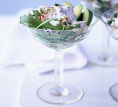 Crab, avocado & lime cocktails