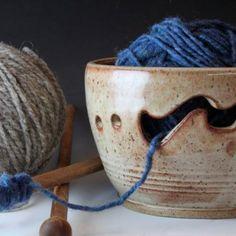 Bridges Pottery Yarn Bowl Nutmeg Knitting Bowl Custom Order seen in...... | bridgespottery - Ceramics & Pottery on ArtFire