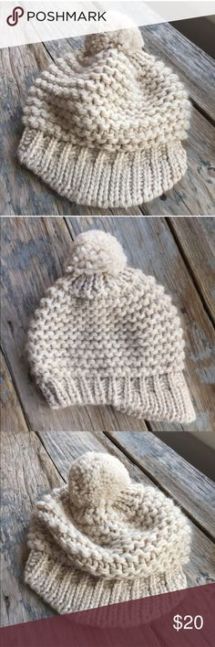 Knit Cap from Italy This is a gorgeous hat. It's so incredibly soft and plush. It has a large pom-pom on top. The front has a soft knit brim. This is fitted. Top has extra room to wear to back or to side. Stunning. Raffaelo Bettini Accessories Hats