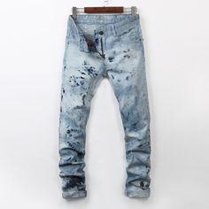 39.00$  Buy here - https://alitems.com/g/1e8d114494b01f4c715516525dc3e8/?i=5&ulp=https%3A%2F%2Fwww.aliexpress.com%2Fitem%2F2016-new-mens-locomotive-jeans-Hot-nail-jeans-fashion-snow-jeans-Men-s-casual-Denim-Jeans%2F32737014683.html - 2016 new mens locomotive jeans Hot nail  fashion snow jeans Men's casual Denim Jeans Skinny Pencil Pants hiphop jeans 28-38 39.00$
