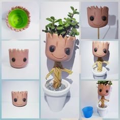 Best 12 Groot m Kawaii Crafts, Cute Crafts, Diy And Crafts, Paper Crafts, Fimo Clay, Polymer Clay Crafts, Ceramic Clay, Stationery Craft, Mini Fairy Garden