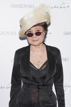 Yoko Ono wearing the Key Pendant Necklace Limited Edition inspired by the Yoko Ono Key Design. Available at: http://www.swarovski-elements.com/eShop
