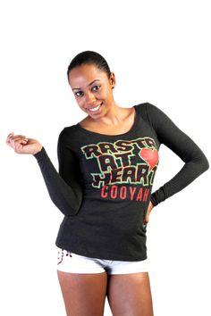 RASTA AT HEART LONG SLEEVE REGGAE T-SHIRT $28 at Cooyah.com Enter Code: JAMAICA62 for 15% off your entire order at checkout. #REGGAE #rasta