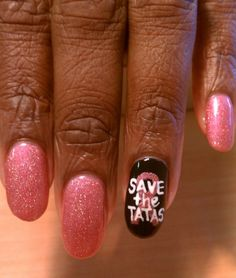 October is Breast Cancer Awareness Month. Get out your pink, ladies! Love Nails, How To Do Nails, Pretty Nails, My Nails, Pink Nails, Breast Cancer Nails, Breast Cancer Support, Mani Pedi, Manicure