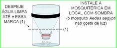 Armadilha para mosquito da dengue com garrafa Pet