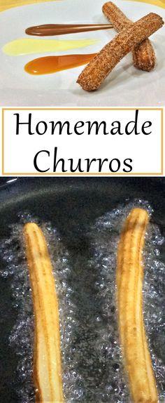 Make churros and three tasty dipping sauces.