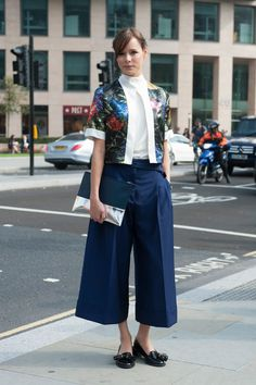 Stilago ❤ Fashion Trends SS 2015 · Crisp culottes lend a cool  sophistication to her cropped floral top. Schick 839a8dc371e