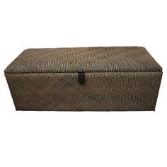 Herringbone Rattan Blanket Box