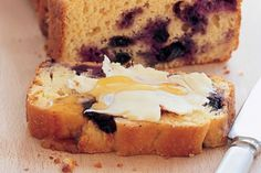 Blueberry corn bread is perfect for breakfast, an after-school snack or part of an afternoon tea.