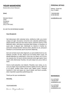 gastown free traditional cover letter template - Cover Letter For A Resume Template