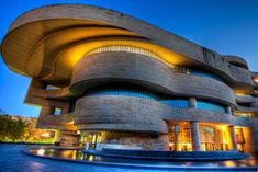 The National Museum of the American Indian, located on the National Mall in Washington DC (designed by Douglas Cardinal) by ADW44@flickr, via pixdaus.com