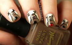 These look hard to do, however they are the cutest thing I have ever seen. Christmas Nail Art Designs for Girls
