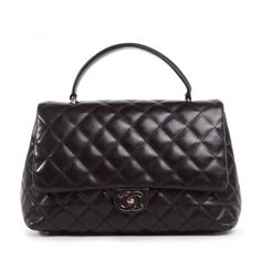 Chanel Black Quilted Leather Classic Kelly Bag