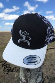 Black and white trucker snapback HOOey Golf Man design in gray Back of the  cap features 04385cccdc73