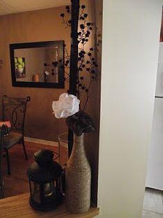The Bird's Papaya: Tutorial Combo! Jute Twine Vase & Fabric Flowers