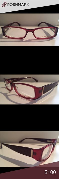 Michael Kors Ophthalmic Glasses Michael Kors Ophthalmic Glasses, style MK232 in Merlot color. Brand new, never used. Includes case, cloth, and pattern for your optician to cut prescribed lenses into. Michael Kors Accessories