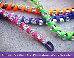 DIY Neon DIY Fashion: Fashion DIY: Neon Rhinestone Wrap Bracelet