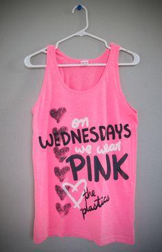On Wednesdays We Wear Pink Tank Top (XS,S,M,L,XL). $24.00, via Etsy.