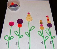 Düğme Çiçekler | OkulÖncesi Sanat ve Fen Etkinlikleri Paylaşım Sitesi