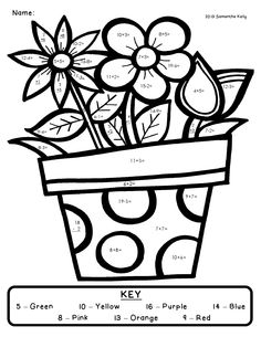 Coloring Pages For Graders Math Coloring Pages. Fun Math Coloring Pages Printable Coloring Coloring Worksheets For Kindergarten, Addition Worksheets, Math Addition, Addition And Subtraction, Kindergarten Math, Teaching Math, Simple Addition, Reading Worksheets, Addition Facts