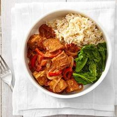 In this vegetarian tikka masala recipe, we combine crisp tofu pieces and vegetables in a spiced tomato sauce to make a healthy and flavorful dish.