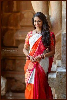 Sree Divya in saree. Beautiful Girl Indian, Beautiful Saree, Beautiful Indian Actress, Gorgeous Women, Beautiful Actresses, Beautiful Celebrities, Simply Beautiful, Beautiful Bride, Indian Beauty Saree