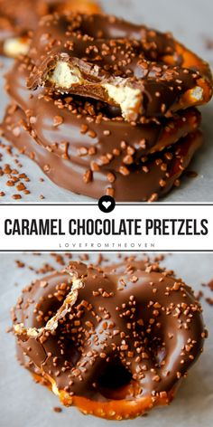 How To Make Caramel Chocolate Pretzels. This salty sweet treat is so easy! (Chocolate Easy How To Make) Mini Desserts, Easy Desserts, Delicious Desserts, Yummy Food, Health Desserts, Fun Food, Chocolate Covered Pretzels Recipe, Chocolate Caramels, Chocolate Bowls