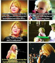 I just shed a tear. Taylor Swift. Best Day is one of my favorite songs!