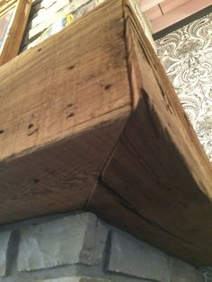 rustic beam mantle & wrap around