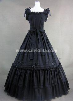 Dark in Love Pour Femme Gothique Haut Noir Dentelle à Mancherons Lolita Steampunk Vintage