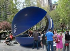 Pepsi Smile Pod like Pop-Up store to attract customers