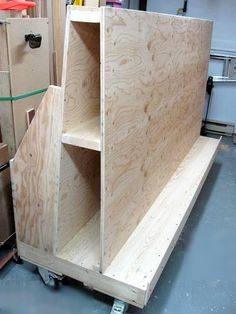 Diy Rolling Lumber Sheet Goods Cart Finding A Place To And Can Be Challenging This Keeps Them All Anize