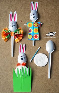 spoon bunny craft  |   Crafts and Worksheets for Preschool,Toddler and Kindergarten