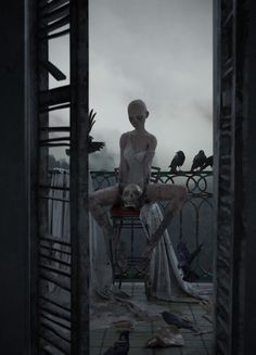 Creepy Images, Creepy Photos, Dark Fantasy Art, Art Sombre, Art Sinistre, Art Noir, Horror Artwork, Dark Artwork, Goth Art