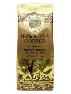 100 Kona Coffee Private Reserve Ground 7 oz 4 bag value pack >>> Want to know more, click on the image.