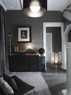 Gray black and white interior design