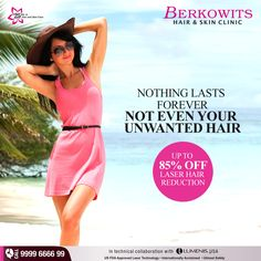 Follow the latest trend, Get Up To 85% Off for our #LaserHairReduction services. #ComeToBerkowits
