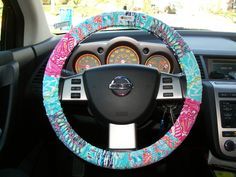 Lilly Pulitzer Steering Wheel Cover by mammajane on Etsy, $24.00