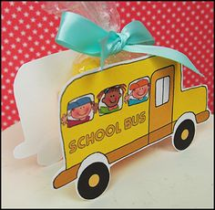 Fun School Bus Printable Candy Boxes!