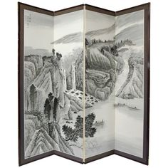 Add a touch of Far Eastern charm to your home decor when you decorate with the Misty Mountain silk screen. Handmade by talented Chinese artisans Hand-painted Crafted using traditional methods handed d