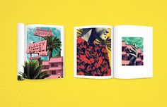 Florida Kilos is a visual storybook and a mini-zine. Inspired by 80's gay pornography, neon signs in Miami and tropical shirts, the zine creates a narrative told purely through visual elements and neon typography.