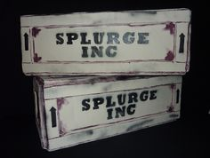 Splurge Crates to hire from Tiggs Props BM15. Bugsy Malone