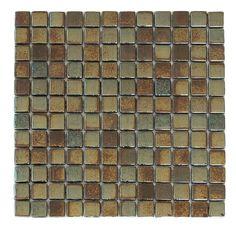 American Olean Bronze Blast Linear Mosaic Glass And Metal
