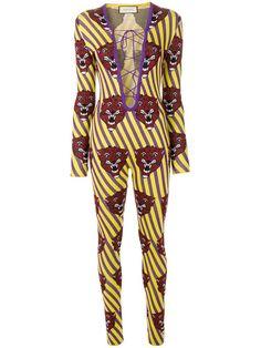 GUCCI tiger face jumpsuit. #gucci #cloth #