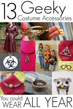 Pieces by Polly: 13+ Geeky Costume Accessories You Could Wear All Year
