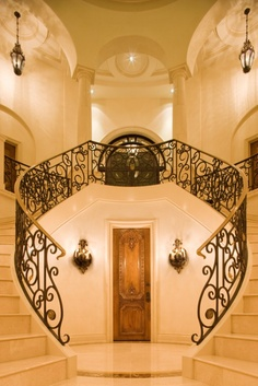 a staircase like this, me in a crimson red dress looking all elegant....would be pretty cool :)