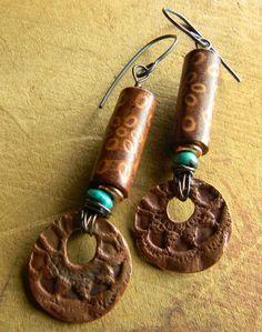 Tribal and southwestern earrings by Gloria Ewing.