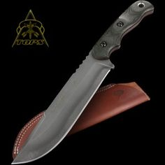 The TOPS Tex Creek XL is a tribute to the men and women who hunt and fish in the Tex creek area in Southeast, Idaho. Cool Knives, Knives And Tools, Knives And Swords, Tactical Survival, Survival Knife, Tactical Knives, Survival Gear, Comfortable Boots, Fixed Blade Knife