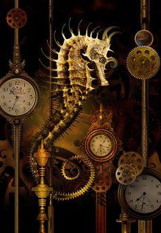 Steampunk Seahorse Temporus by Whale Man, via Flickr