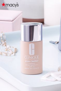 Clinique Even Better foundation is dermatologist-developed to help perfect & actively improve your skin with every wear. Try this hydrating and smoothing foundation for a natural look — shop it on macys.com now! Macy's Beauty, Beauty Makeup, Hair Beauty, Best Foundation, Chihuahua Dogs, Broad Spectrum, Natural Looks, Best Makeup Products, Your Skin